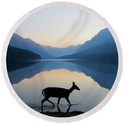 The Grace Of Wild Things Round Beach Towel by Dustin  LeFevre