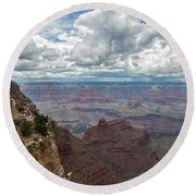 The Grand Canyon And Lookout Studio Round Beach Towel
