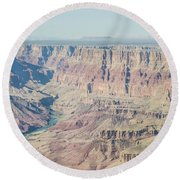 Round Beach Towel featuring the photograph The Grand Canyon by Margaret Pitcher