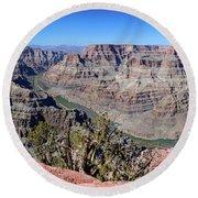 The Grand Canyon Panorama Round Beach Towel