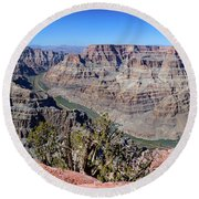 The Grand Canyon Panorama Round Beach Towel