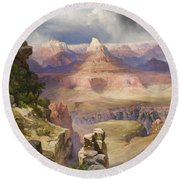 The Grand Canyon Round Beach Towel by Thomas Moran