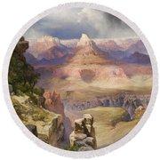 The Grand Canyon Round Beach Towel by Thomas Moran