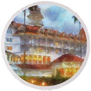 The Grand Floridian Resort Wdw 01 Photo Art Mp Round Beach Towel