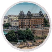 The Grand Hotel Scarborough Round Beach Towel