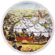 The Grand Layout, Chromolithograph 1874 Round Beach Towel