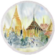The Grand Palace Bangkok Round Beach Towel