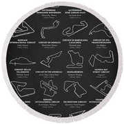 The Grand Prix Circuits Round Beach Towel