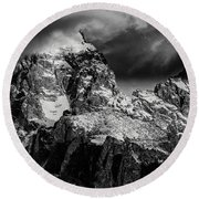 The Grand Teton Round Beach Towel