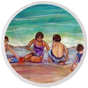 The Grands Round Beach Towel