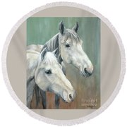 The Grays - Horses Round Beach Towel
