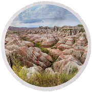 Deep And Wide Panorama Round Beach Towel