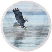 The Great American Bald Eagle 2016-15 Round Beach Towel