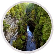 The Great Chasm Round Beach Towel