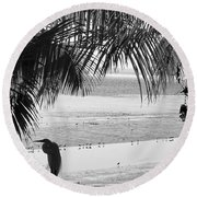 Watching The Tide Round Beach Towel