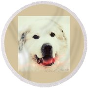 The Great Pyrenean Round Beach Towel