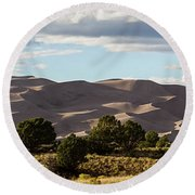 The Great Sand Dunes Triptych - Part 2 Round Beach Towel