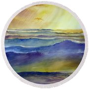 The Great Sea Round Beach Towel