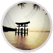 The Great Torii  Round Beach Towel