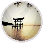 The Great Torii  Round Beach Towel