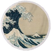 The Great Wave Of Kanagawa Round Beach Towel