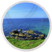 The Greater Saltee Island Round Beach Towel by Joe Cashin