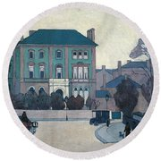 The Green House, St John's Wood Round Beach Towel by Robert Bevan