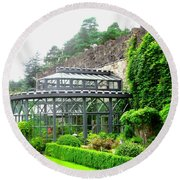The Greenhouse At Glenveagh Castle Round Beach Towel by Stephanie Moore