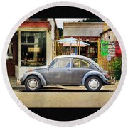 The Grey Beetle Round Beach Towel by Craig J Satterlee