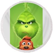 The Grinch 2018 A Round Beach Towel