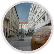 The Grounded Sun Zagreb Round Beach Towel by Steven Richman