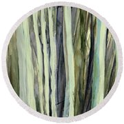 Round Beach Towel featuring the painting The Grove by Andrew King