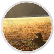 The Guardian Round Beach Towel