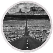 Round Beach Towel featuring the photograph The Gump Stops Here by Darren White