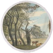 The Gunpowder Magazine, Hyde Park Round Beach Towel by Paul Sandby