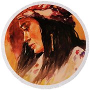 Gypsy Girl Round Beach Towel