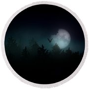 The Hallowed Moon Round Beach Towel