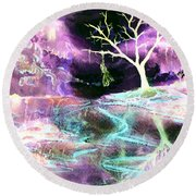 The Hanging Tree Inverted Round Beach Towel