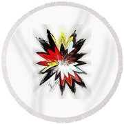 The Happy Asteroids Round Beach Towel