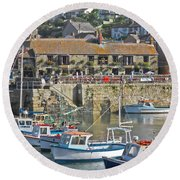 The Harbour Inn Porthleven Round Beach Towel