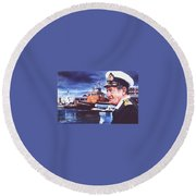 The Harbourmaster Round Beach Towel