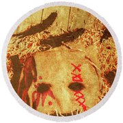 The Harvester Round Beach Towel