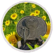 The Hat Round Beach Towel