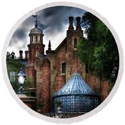 The Haunted Mansion Round Beach Towel