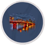 The Hawthorne Bridge - Pdx Round Beach Towel by Thom Zehrfeld