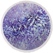 Round Beach Towel featuring the painting The Healing Power Of Amethyst by Joanne Smoley