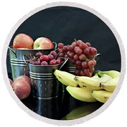 Round Beach Towel featuring the photograph The Healthy Choice Selection by Sherry Hallemeier