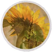 The Heat Of Summer Round Beach Towel