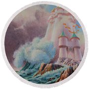 The High Tower Round Beach Towel