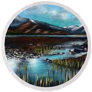 The Highlands - Scotland Round Beach Towel